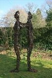 DUALITY by Penny Hardy, Sculpture, Mild Steel