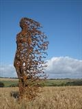 You Blew Me Away 8 by Penny Hardy, Sculpture, Mild steel